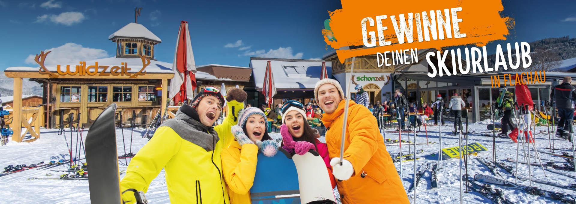 Skiurlaub gewinnen - Gewinnspiel Wildzeit Flachau